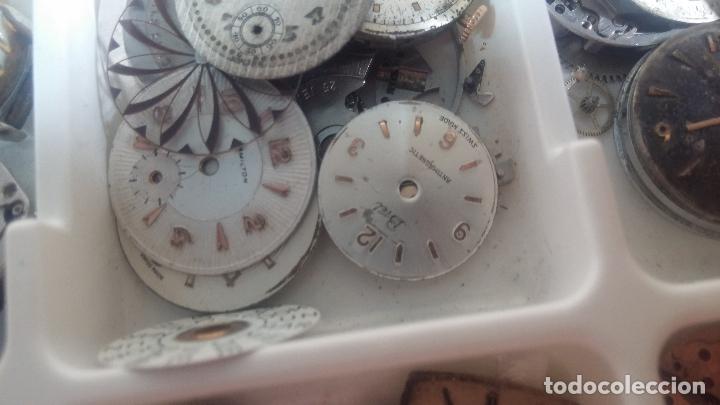 Herramientas de relojes: BOTITO Y VARIADO LOTE DE RELOJ, RELOJES, MAQUINAS, ESFERAS Y PIEZAS SUELTAS PARA RELOJ ANTIGUO - Foto 31 - 124338623