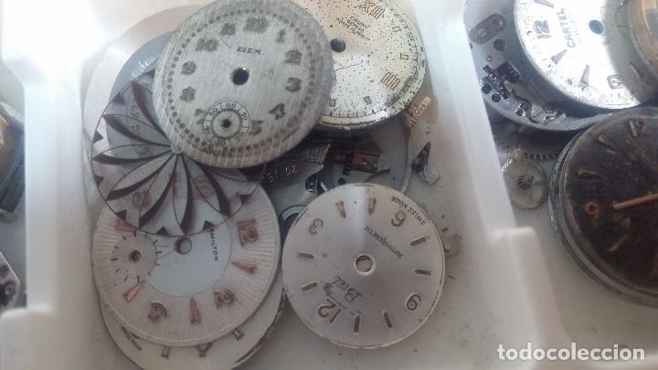 Herramientas de relojes: BOTITO Y VARIADO LOTE DE RELOJ, RELOJES, MAQUINAS, ESFERAS Y PIEZAS SUELTAS PARA RELOJ ANTIGUO - Foto 32 - 124338623