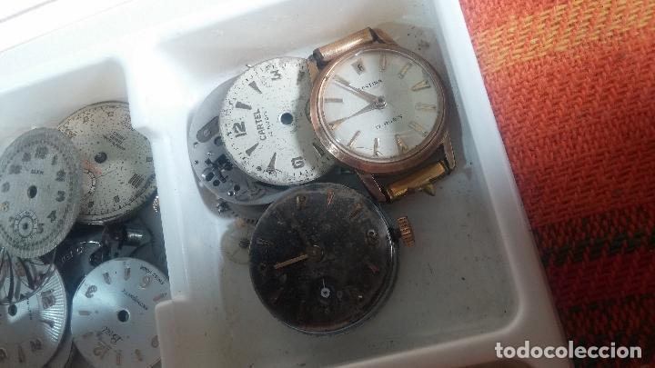 Herramientas de relojes: BOTITO Y VARIADO LOTE DE RELOJ, RELOJES, MAQUINAS, ESFERAS Y PIEZAS SUELTAS PARA RELOJ ANTIGUO - Foto 33 - 124338623