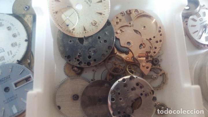 Herramientas de relojes: BOTITO Y VARIADO LOTE DE RELOJ, RELOJES, MAQUINAS, ESFERAS Y PIEZAS SUELTAS PARA RELOJ ANTIGUO - Foto 38 - 124338623