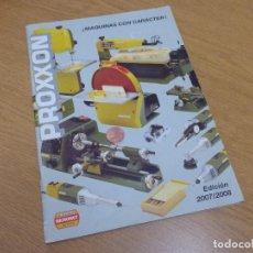 Herramientas de relojes: CATALOGO PROXXON . AÑO 2007 2008. Lote 128931051
