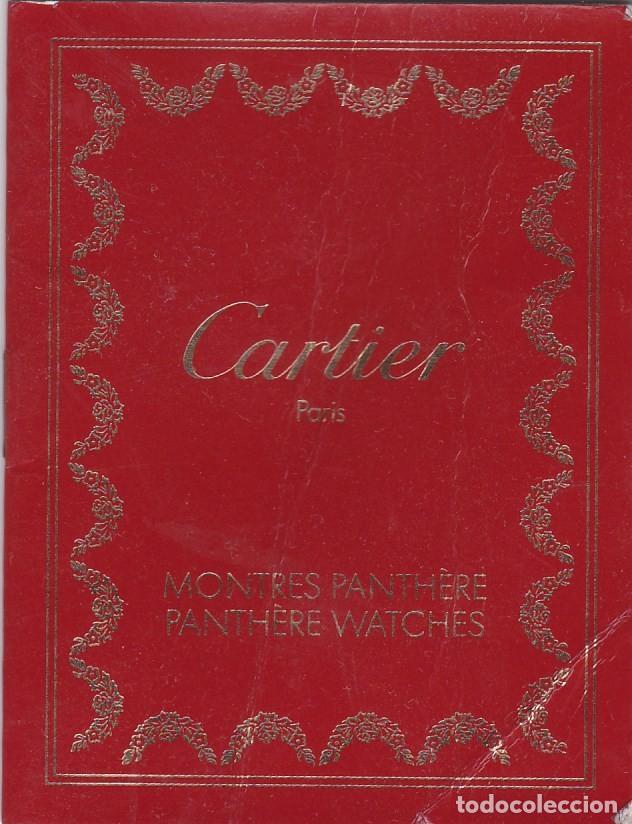 PANTHÈRE DE CARTIER. PARIS. MANUAL DE INSTRUCCIONES (FRANCES / INGLES) (Relojes - Herramientas y Útiles de Relojero )
