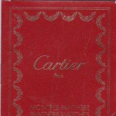 Herramientas de relojes: PANTHÈRE DE CARTIER. PARIS. MANUAL DE INSTRUCCIONES (FRANCES / INGLES). Lote 130106551