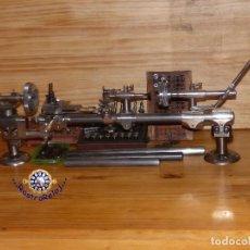 Herramientas de relojes: ,,,TORNO DE RELOJERO PRECISION,,, WOLF.JAHN - LORCH,,,8 MM - 6 MM,,,COMPLETO,,,ESTADO INMEJORABLE,,. Lote 132270266