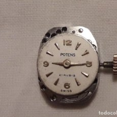Herramientas de relojes: MAQUINA DE RELOJ DE PULSERA DE SEÑORA POTENS 21 RUBÍS 4ADJ SELZA SWISS. Lote 133532606