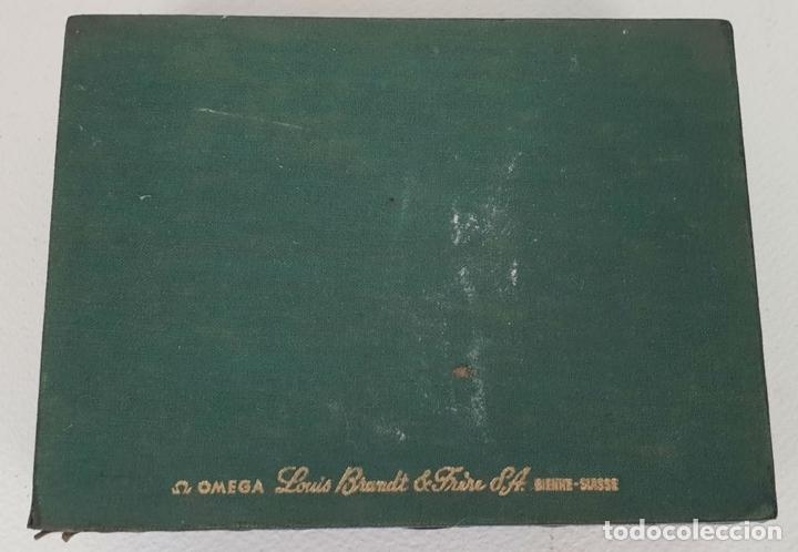Herramientas de relojes: CAJA PARA RELOJ OMEGA. MADERA FORRADA EN TELA. SUIZA. CIRCA 1970. - Foto 2 - 133909018