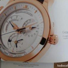 Herramientas de relojes: LOTE DE TRES CATÁLOGOS DE RELOJES (IWC, ULYSSE/NARDIN Y JAEGER LECOULTRE.. Lote 138827210