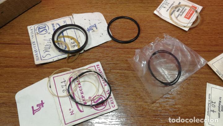 Herramientas de relojes: CAJA ANTIGUA CON JUNTAS DE RELOJ O PARA RELOJERÍA - Foto 12 - 140594794