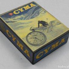 Herramientas de relojes: IMPRESIONANTE CAJA DE RELOJ DE BOLSILLO MARCA CYMA BUEN ESTADO. Lote 146231462