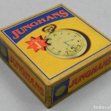 Herramientas de relojes: IMPRESIONANTE CAJA DE RELOJ DE BOLSILLO MARCA JUNGHANS . Lote 146231914