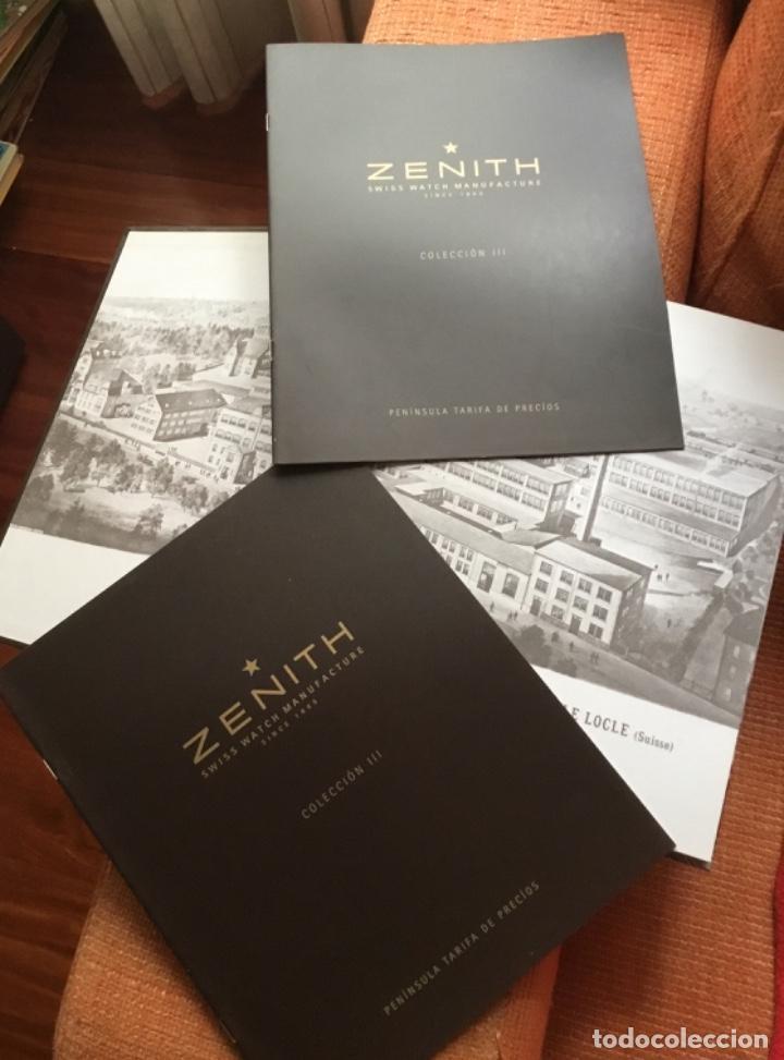 Herramientas de relojes: Libro catálogo relojes zenith perfecto estado nuevo - Foto 2 - 148609314
