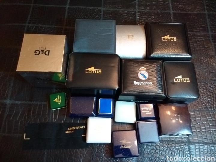 Herramientas de relojes: Lote de cajas de relojes y joyería - Foto 6 - 149519744