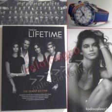 Herramientas de relojes: REVISTA OMEGA LIFETIME 19 FAMILY EDITION - NO VENDO RELOJ - CINDY CRAWFORD KAIA GERBER SERGIO GARCÍA. Lote 151586766