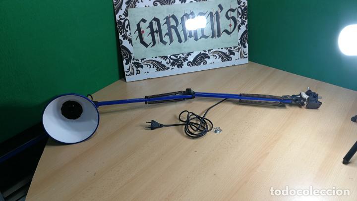 Herramientas de relojes: Lampara foco de trabajo azul, para taller de relojero o relojería - Foto 2 - 152649554
