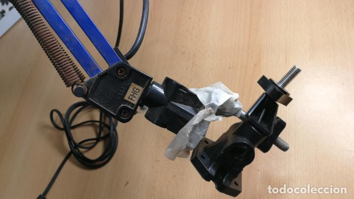 Herramientas de relojes: Lampara foco de trabajo azul, para taller de relojero o relojería - Foto 4 - 152649554