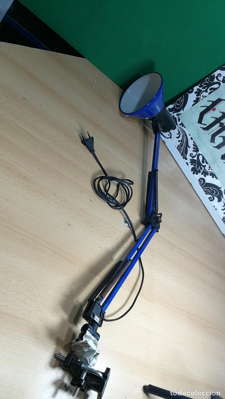 Herramientas de relojes: Lampara foco de trabajo azul, para taller de relojero o relojería - Foto 9 - 152649554