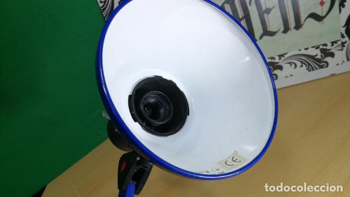 Herramientas de relojes: Lampara foco de trabajo azul, para taller de relojero o relojería - Foto 17 - 152649554
