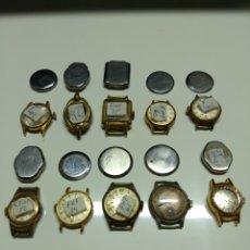 Herramientas de relojes: LOTE DE 10 MECANISMOS CARGA MANUAL. Lote 153403968