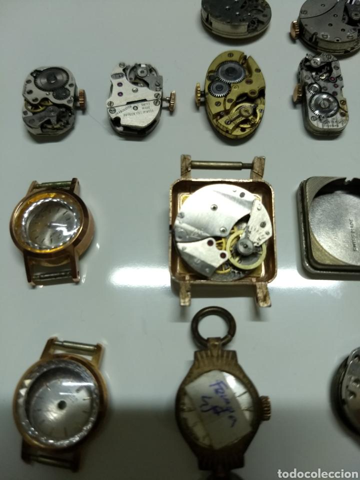 LOTE 13 MECANISMOS CARGA MANUAL (Relojes - Herramientas y Útiles de Relojero )