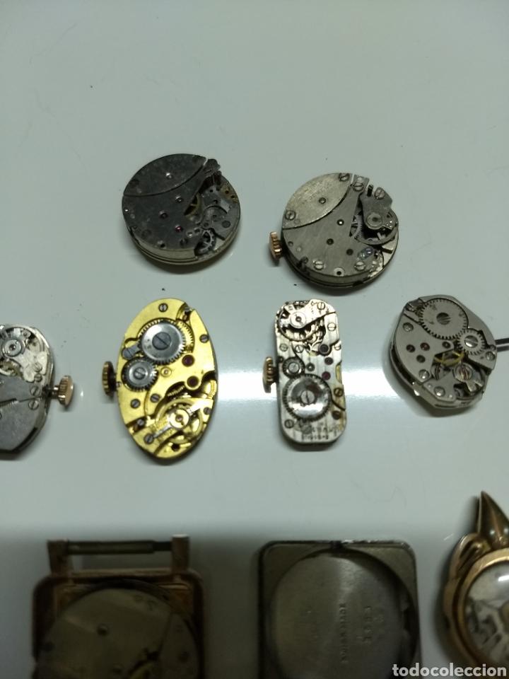 Herramientas de relojes: Lote 13 mecanismos carga manual - Foto 2 - 153404282