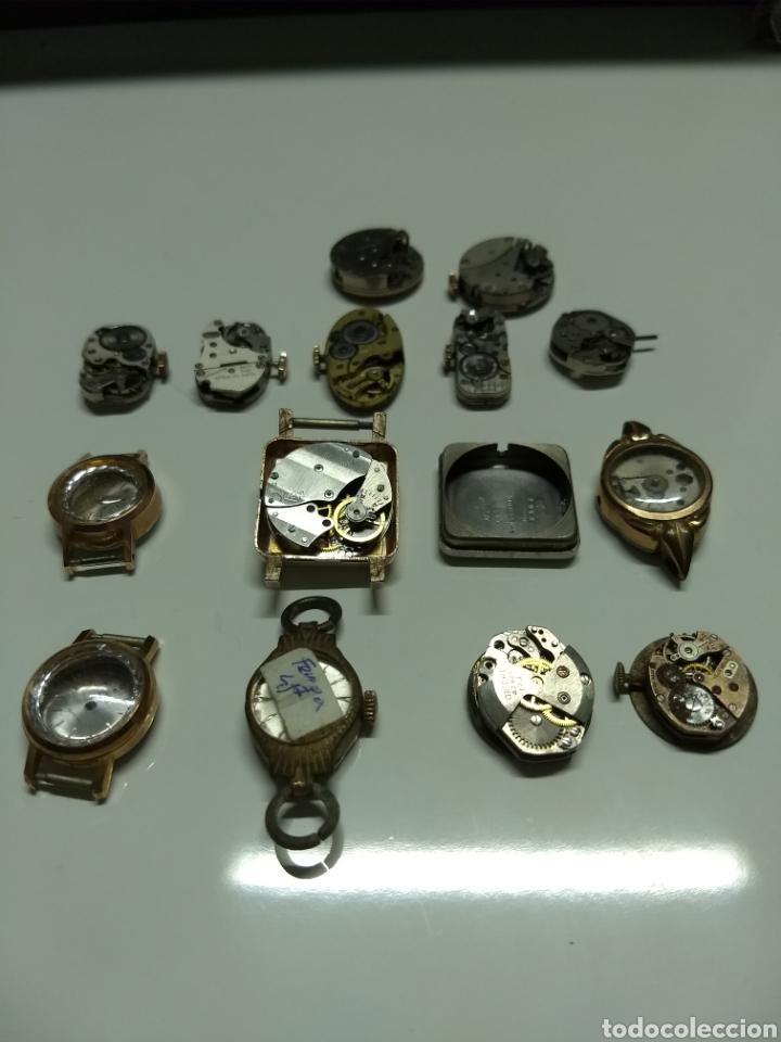 Herramientas de relojes: Lote 13 mecanismos carga manual - Foto 3 - 153404282