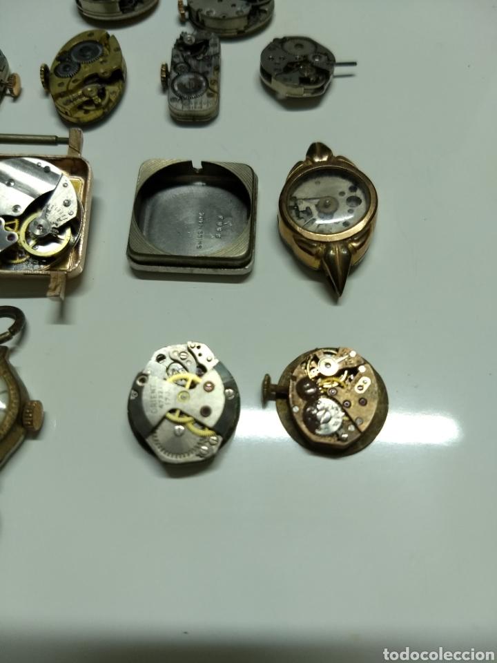 Herramientas de relojes: Lote 13 mecanismos carga manual - Foto 4 - 153404282