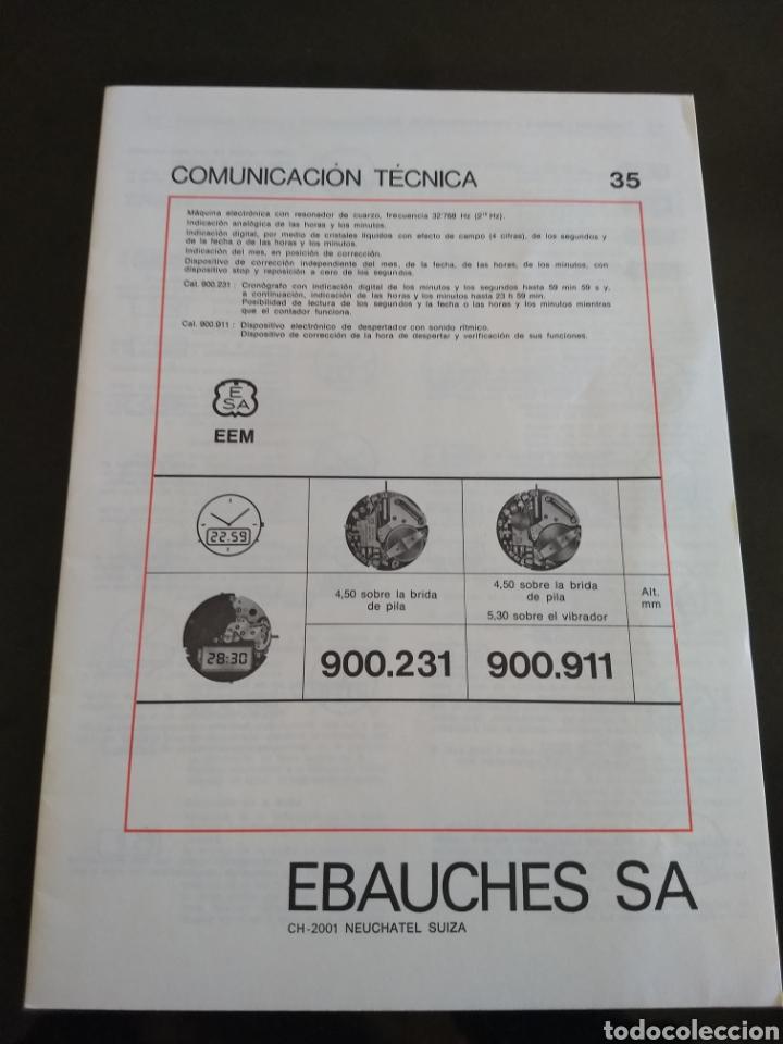 EBAUCHES SA COMUNICACIÓN TÉCNICA 35 (Relojes - Herramientas y Útiles de Relojero )
