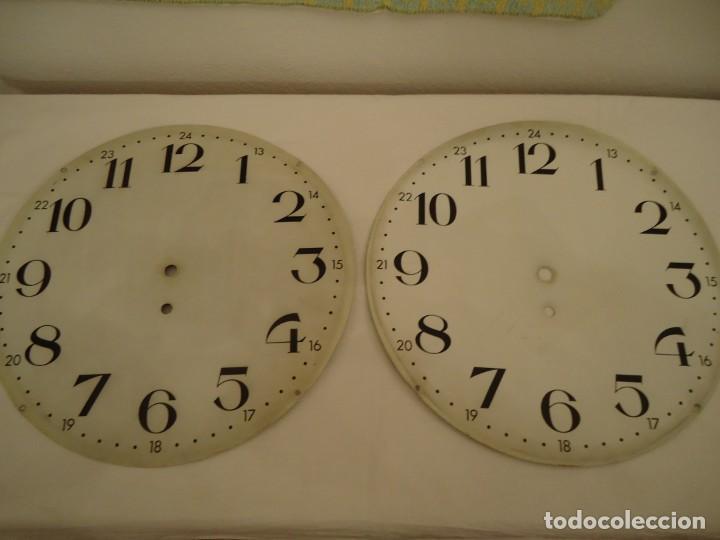 2 ESFERAS GRANDES PARA RELOJ EXTERIOR DOBLE CARA (Relojes - Herramientas y Útiles de Relojero )