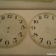 Herramientas de relojes: LOTE 2 ESFERAS GRANDES PARA RELOJ DOBLE CARA. Lote 155702354