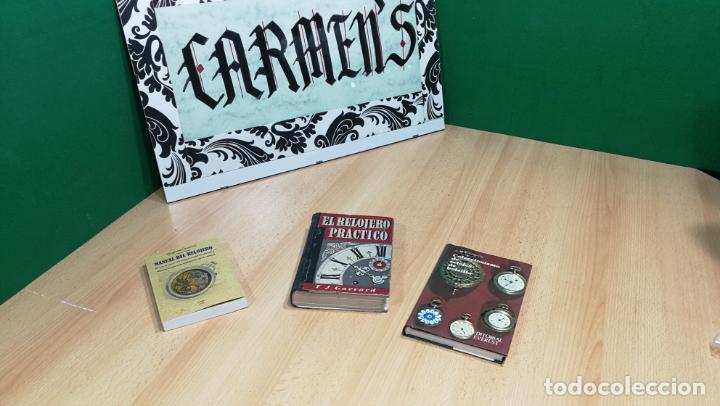 Herramientas de relojes: Tres magníficos libros para el estudiante del reloj y la relojería, tratados de diferentes décadas - Foto 2 - 156734558