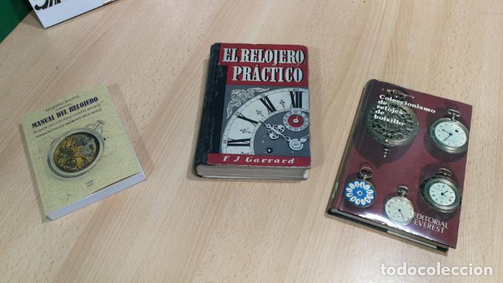 Herramientas de relojes: Tres magníficos libros para el estudiante del reloj y la relojería, tratados de diferentes décadas - Foto 3 - 156734558