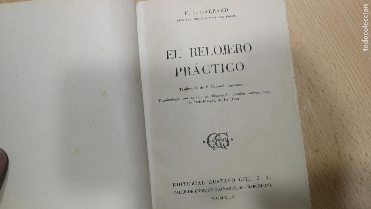 Herramientas de relojes: Tres magníficos libros para el estudiante del reloj y la relojería, tratados de diferentes décadas - Foto 20 - 156734558