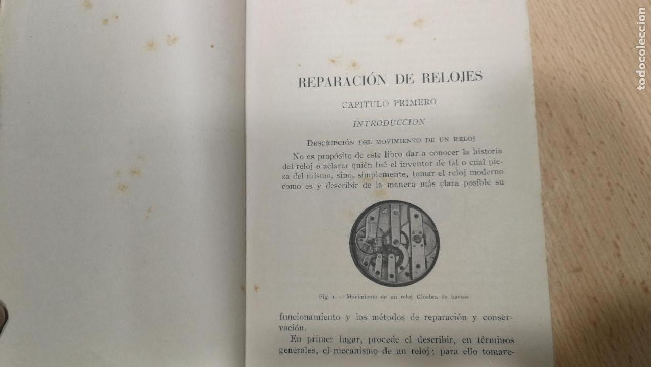 Herramientas de relojes: Tres magníficos libros para el estudiante del reloj y la relojería, tratados de diferentes décadas - Foto 21 - 156734558