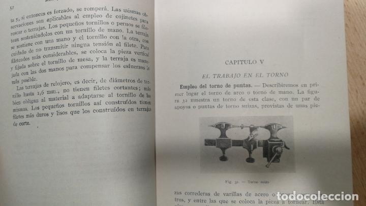 Herramientas de relojes: Tres magníficos libros para el estudiante del reloj y la relojería, tratados de diferentes décadas - Foto 24 - 156734558