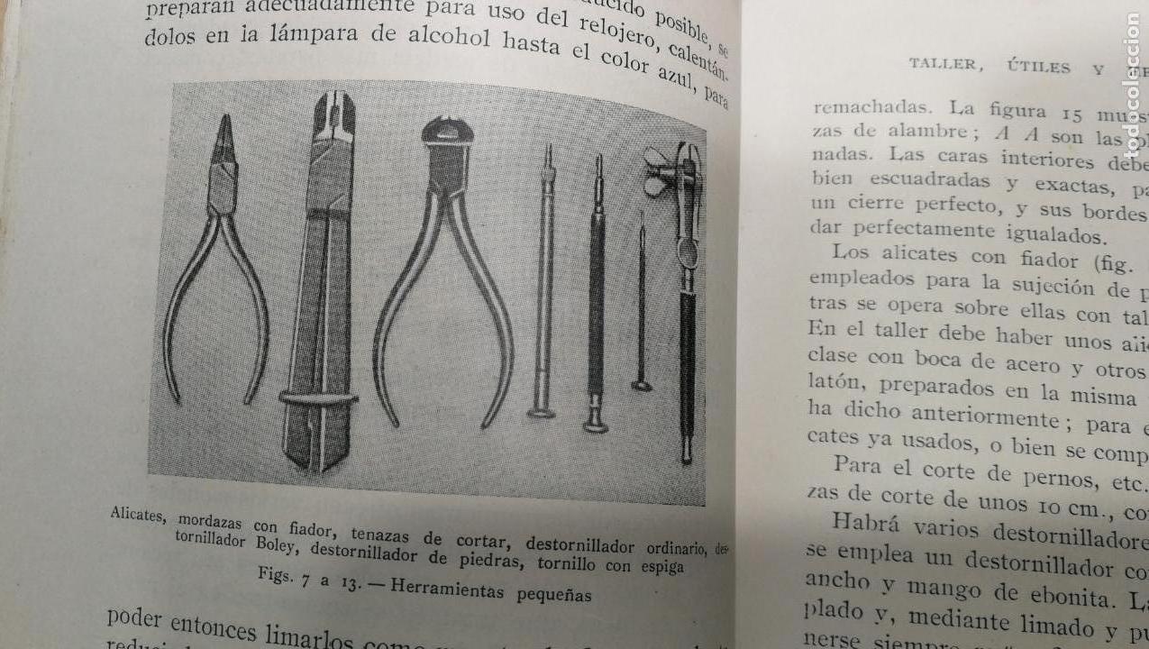 Herramientas de relojes: Tres magníficos libros para el estudiante del reloj y la relojería, tratados de diferentes décadas - Foto 25 - 156734558