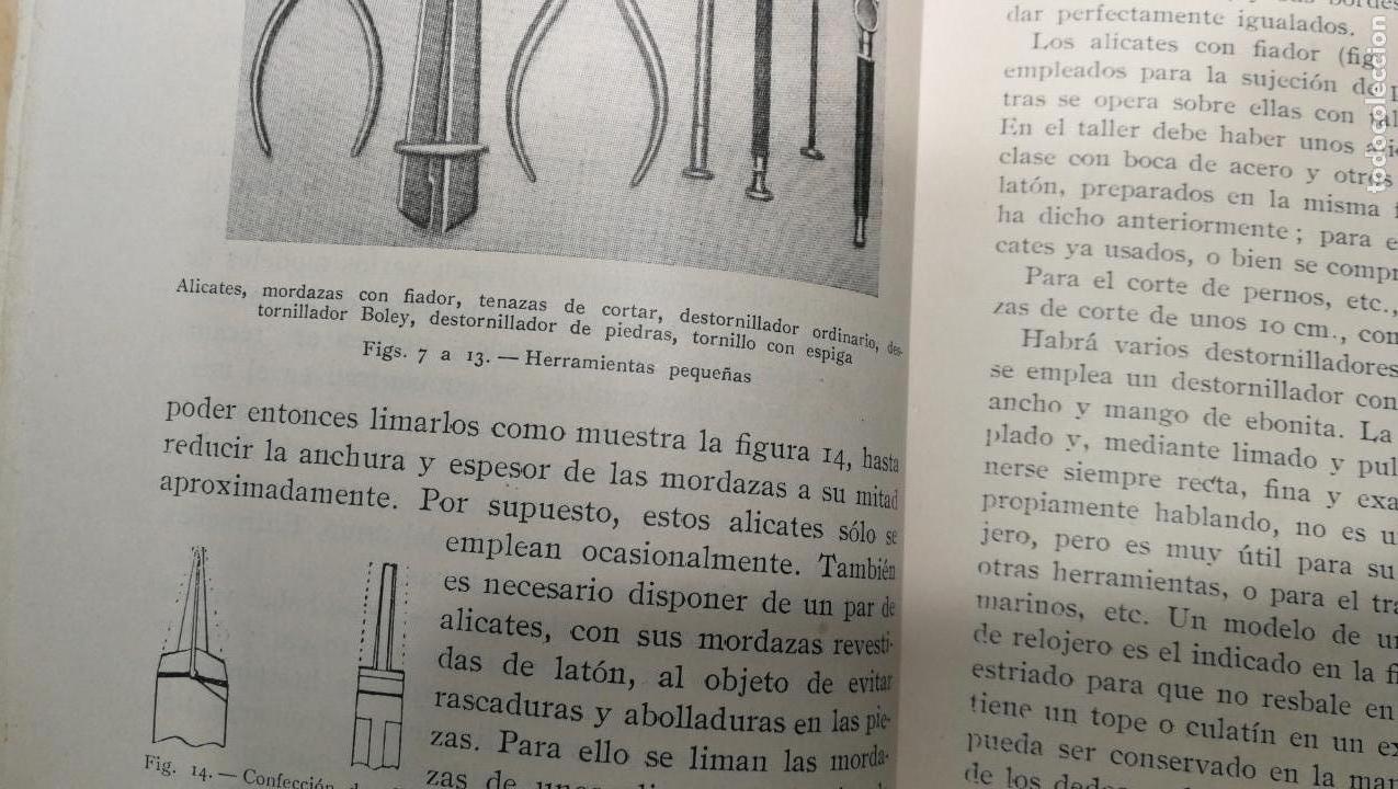 Herramientas de relojes: Tres magníficos libros para el estudiante del reloj y la relojería, tratados de diferentes décadas - Foto 26 - 156734558