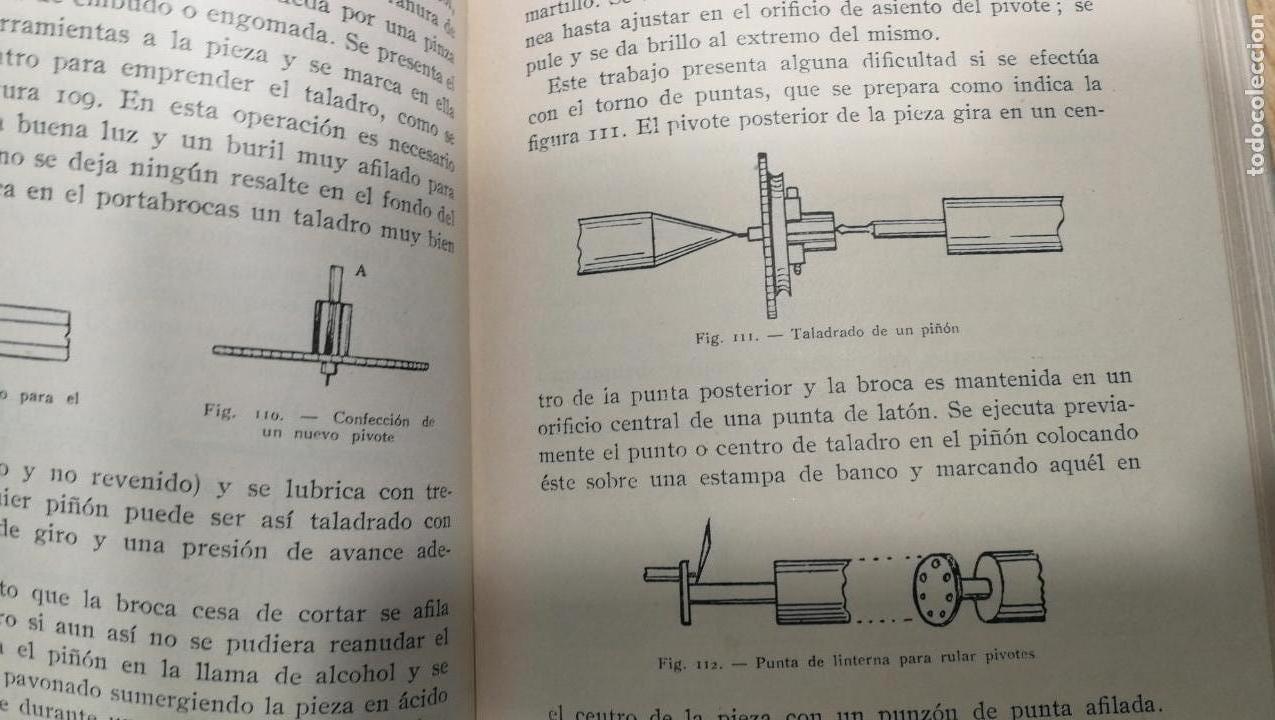 Herramientas de relojes: Tres magníficos libros para el estudiante del reloj y la relojería, tratados de diferentes décadas - Foto 27 - 156734558
