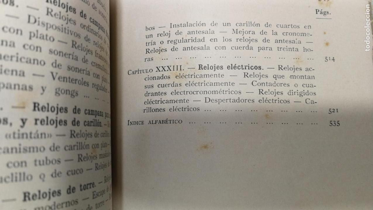 Herramientas de relojes: Tres magníficos libros para el estudiante del reloj y la relojería, tratados de diferentes décadas - Foto 33 - 156734558