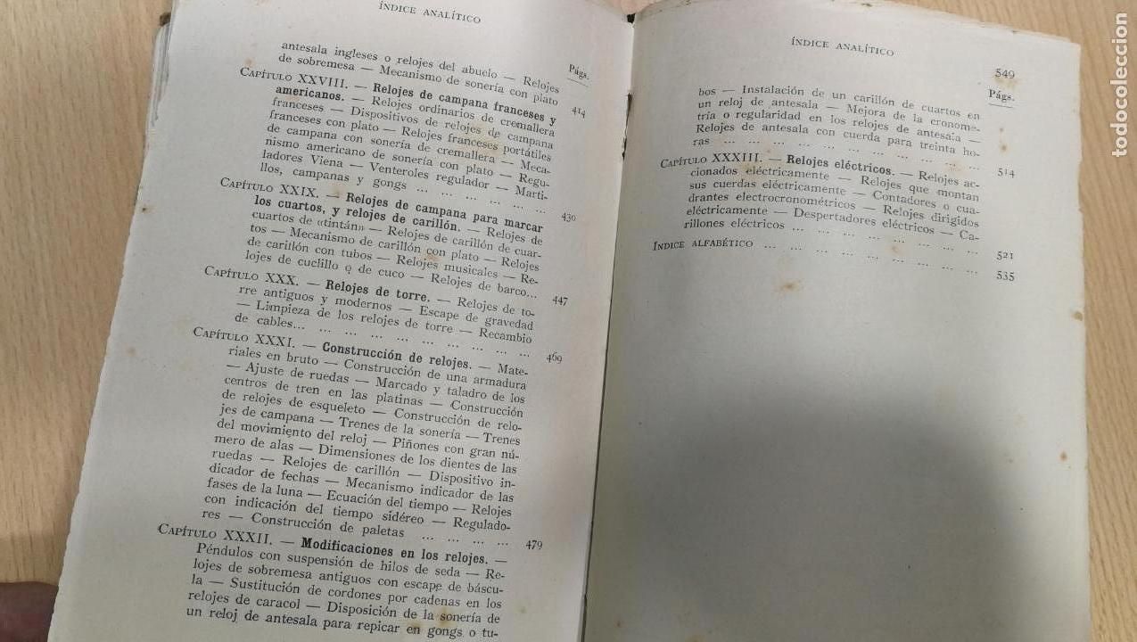 Herramientas de relojes: Tres magníficos libros para el estudiante del reloj y la relojería, tratados de diferentes décadas - Foto 30 - 156734558