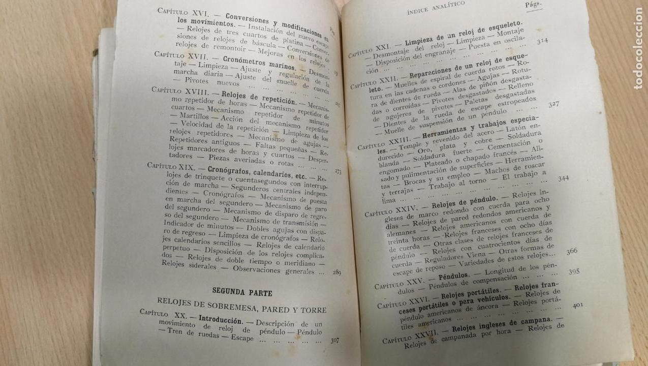Herramientas de relojes: Tres magníficos libros para el estudiante del reloj y la relojería, tratados de diferentes décadas - Foto 31 - 156734558