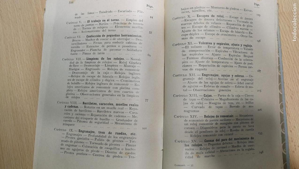 Herramientas de relojes: Tres magníficos libros para el estudiante del reloj y la relojería, tratados de diferentes décadas - Foto 32 - 156734558