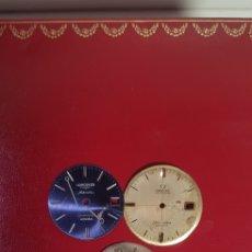 Herramientas de relojes: LOTE DE TRES ESFERAS OMEGA LONGINES Y MAS. Lote 158990532