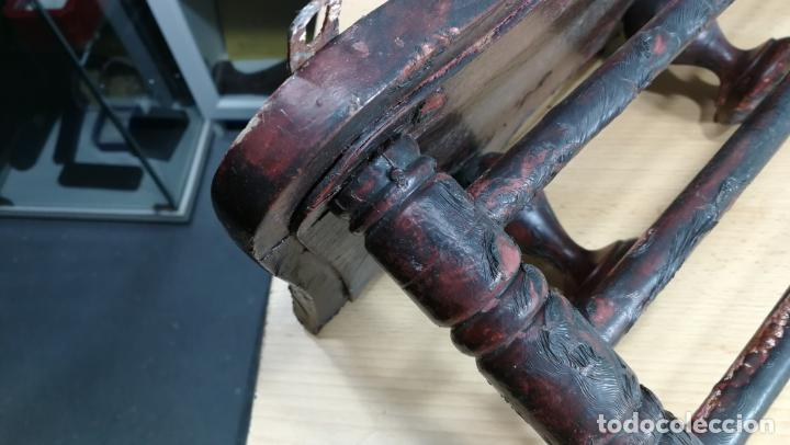 Herramientas de relojes: Percha antigua de madera utilizada en una relojería ya cerrada hace años, PARA RESTAURAR - Foto 5 - 160196238