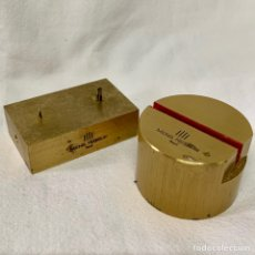 Herramientas de relojes: PAREJA YUNQUES RELOJERO JOYERO MICHEL HERBELIN PARIS HERRAMIENTA RELOJERIA RELOJ YUNQUE TALLER. Lote 162138650