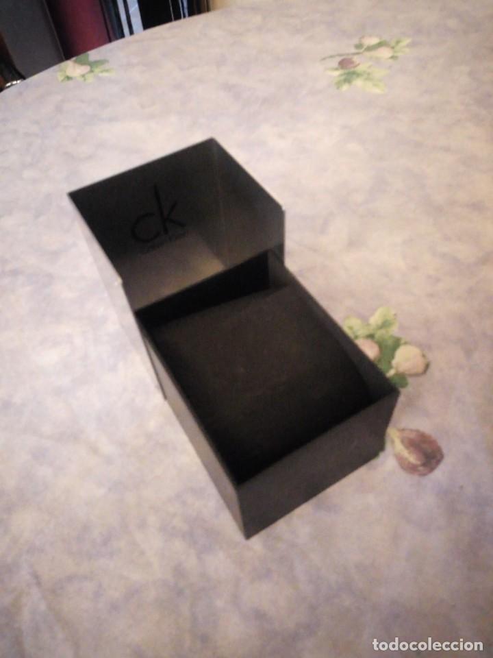 Herramientas de relojes: Caja de cartón y metal para reloj calvin klein,completa - Foto 3 - 164999458