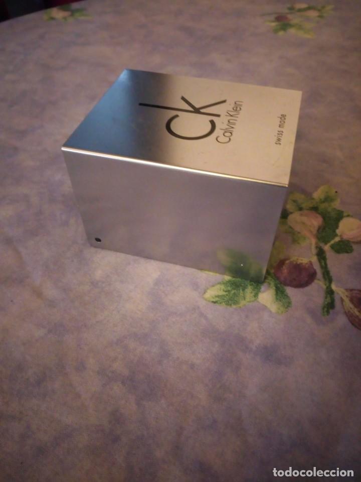Herramientas de relojes: Caja de cartón y metal para reloj calvin klein,completa - Foto 5 - 164999458
