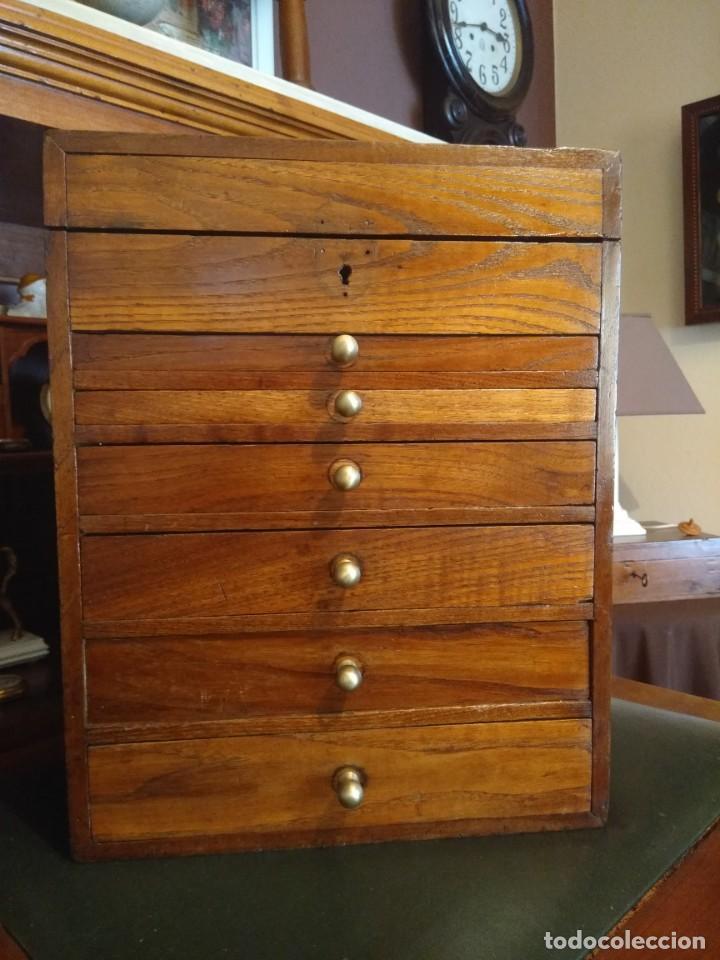 Herramientas de relojes: Mueble (armario) de relojero en madera - Foto 2 - 166782534