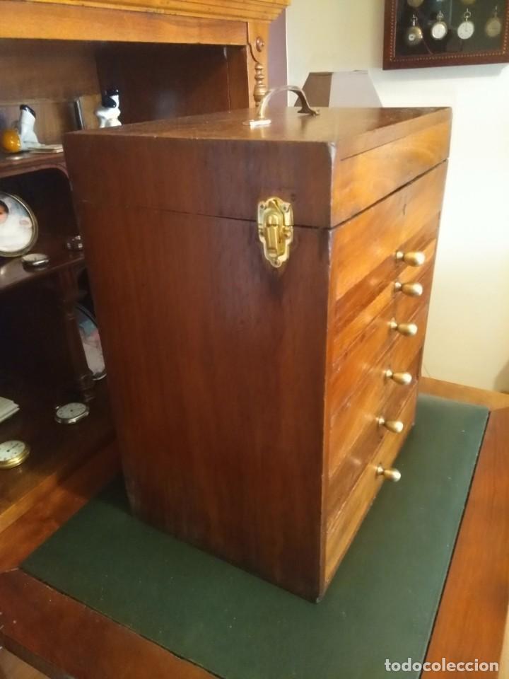 Herramientas de relojes: Mueble (armario) de relojero en madera - Foto 3 - 166782534