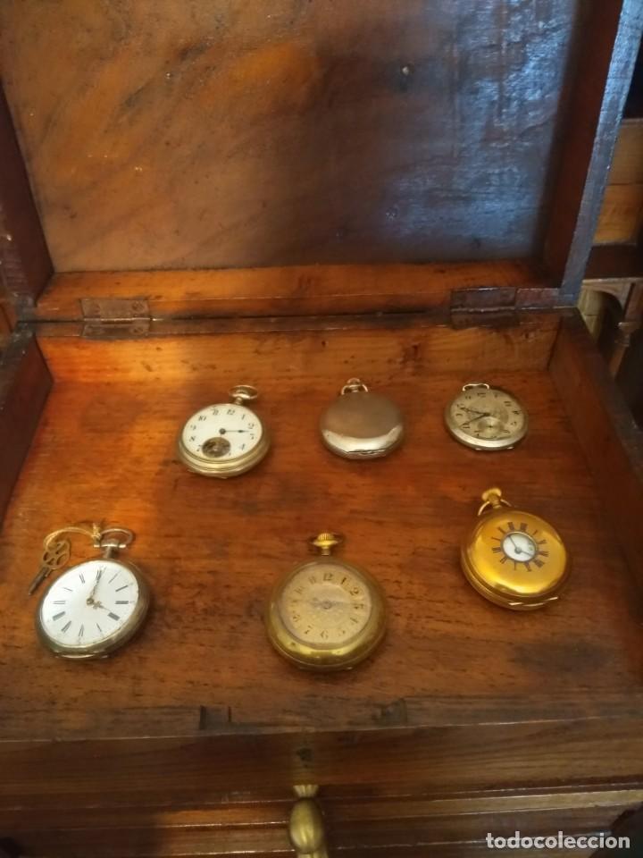 Herramientas de relojes: Mueble (armario) de relojero en madera - Foto 9 - 166782534