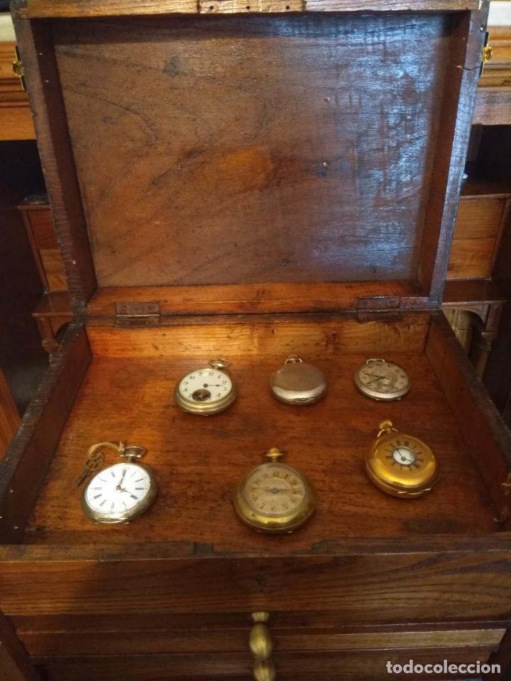 Herramientas de relojes: Mueble (armario) de relojero en madera - Foto 10 - 166782534